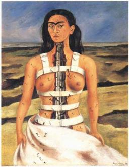 Frida Kahlo - The broken column (self-portrait), 1944